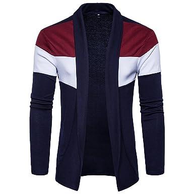 TEBAISE Herren Hoodie Mantel Herren Herbst Winter Pullover Strickjacke Strick Cool Mantel Mode Lange Sweatshirt