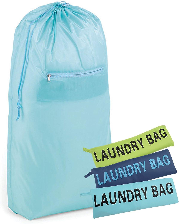 HOMZ, Assorted Colors, Sky Deep Sea Lazy Lime, 2 Load Capacity, Set of 6 Compact Laundry Bag, 20.5 x 35.5, Blue/Green
