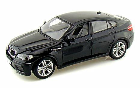 Amazon Com Bburago Bmw X6 M Black 12081 1 18 Scale Diecast Model