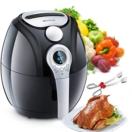 Air Fryer,Blusmart Electric Air Fryer, 3 4Qt/3 2L 1400W, LED Display, Hot  Air Fryer,Healthy Oil Free for Cooking/Baking (Recipes & Kitchen Tongs
