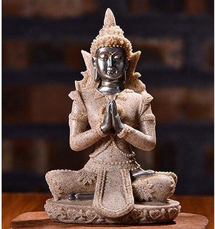 Znx La decoración del hogar Accesorios, Buda Buda de Piedra Arenisca Figura Estatua del jardín Estatuas Esculturas Budismo for la decoración (Color : 06): Amazon.es: Hogar