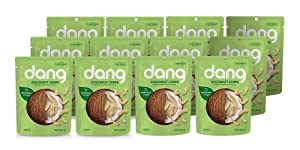 Dang Toasted Coconut Chips | Original | 12 Pack | Vegan, Gluten Free, Non GMO, Healthy Snacks Made with Whole Foods | 1.43 Oz Resealable Bags