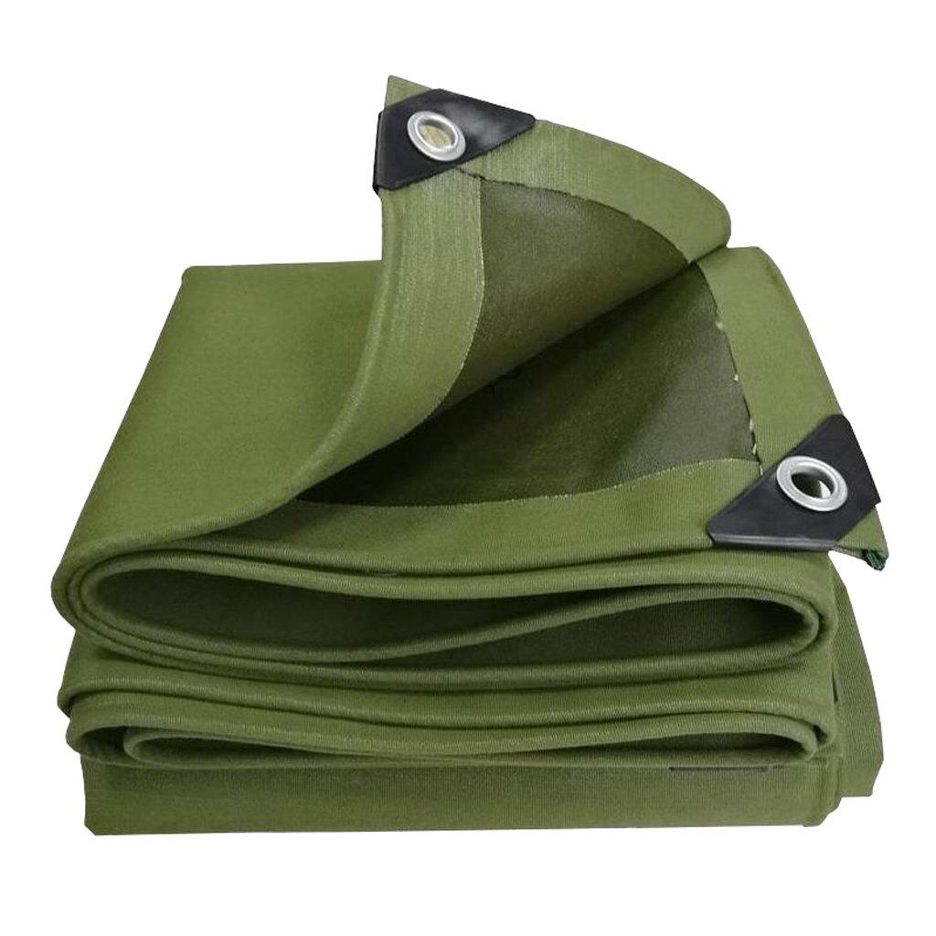 Zelt Zubehör Plane Planen-Blatt-Tarps Multifunktions-Poncho für kampierendes Fischen-im Garten arbeitender Sonnenschutz-Kälte-Widerstand, Stärke 0.7MM, 600G / m², 8 Größe vorhanden, grün Idee für Camp