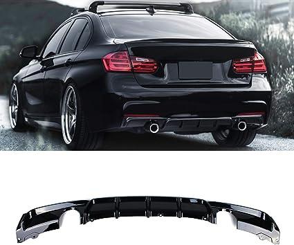 FRP Rear Bumper Diffuser Lip Quad Tips For BMW F30 320i 325i 328i 335i M Sport