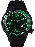 Kienzle Herren-Armbanduhr POSEIDON XL Black Pro Analog Silikon K2021173143-00260
