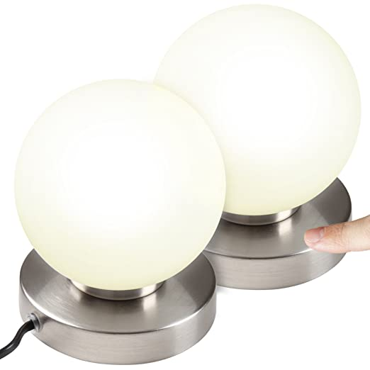 Jago Jeu De 2 Lampes De Chevet Tactiles 3 Intensites De Lumiere
