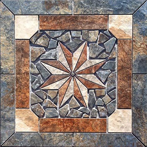 "New 22 1/4"" X 22 1/4"" Tile Medallion Inlay Mosaic - Lamosa Zion tile series"