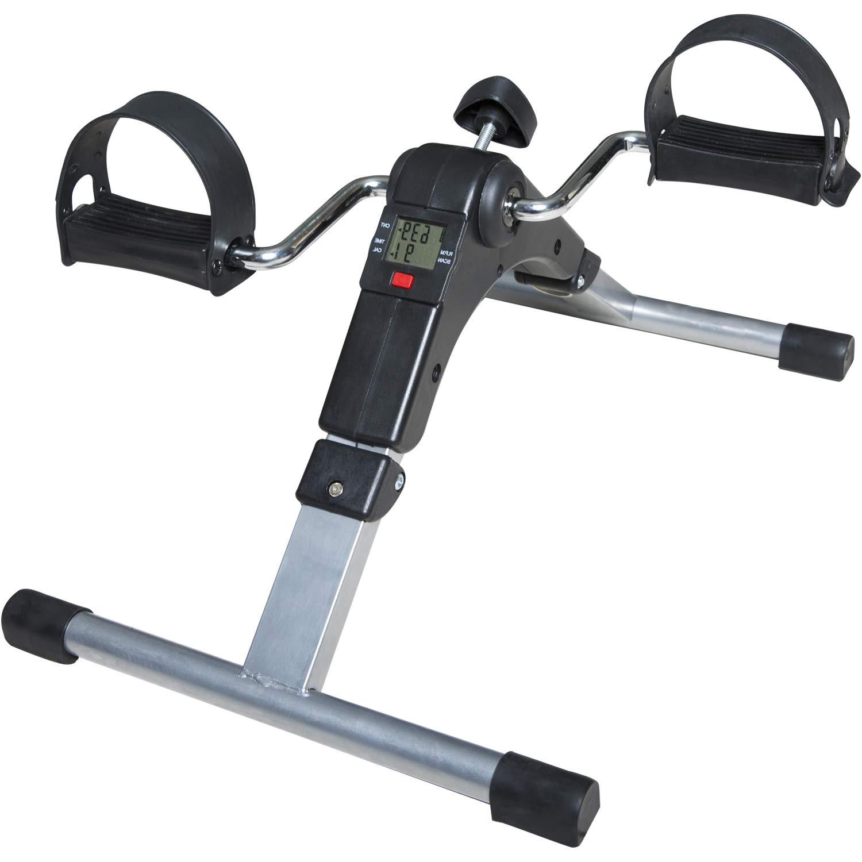 SNODE Folding Exercise Peddler MC600(2019, Mini Exercise Bike, Portable Fitness Foot Bike, Folding Exercise Peddler with LCD Display