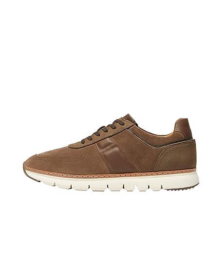 Massimo Dutti - Zapatillas para Hombre Marrón marrón, Color Marrón, Talla 40 EU: Amazon.es: Zapatos y complementos