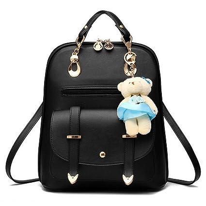 12dc6220efe longteam Mujer Bolsas lindo mochila bolso piel PU cierre Bolsas Casual  Mochilas Bolsas de hombro