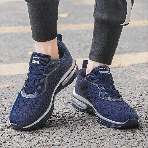 Libre 37 Hombre para Casual de 46 Correr Running Mujer Zapatillas Unisex Zapatillas de Aire Deporte Azul Fitness q4XnBfUw