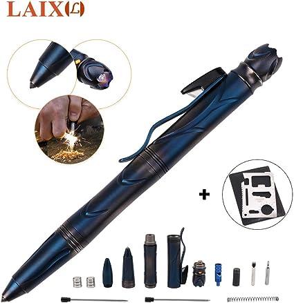 Outdoor Survival Tactical Pen Multi-function Portable Refill Pen Camping Tools