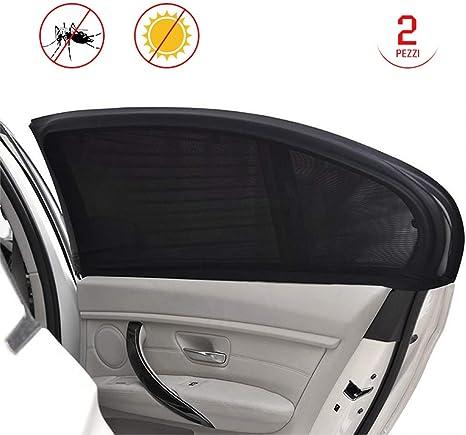 2/pezzi nero copertura della finestra laterale Parasole Nylon 60/cm x 51/cm per auto auto