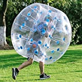 Popsport Inflatable Bumper Ball 4FT/5FT Bubble Soccer Ball 0.8mm Eco-Friendly PVC Zorb Ball Human Hamster Ball for Adults and Kids (5FT Blue Dot)
