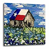 3dRose image of Painting of Old Texas Barn with Bluebonnets – Wall Clock, 15 by 15-Inch (dpp_223363_3) For Sale