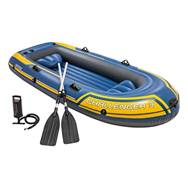 Amazon.com: Intex Challenger 3 Inflatable Boat Set With Pump ...