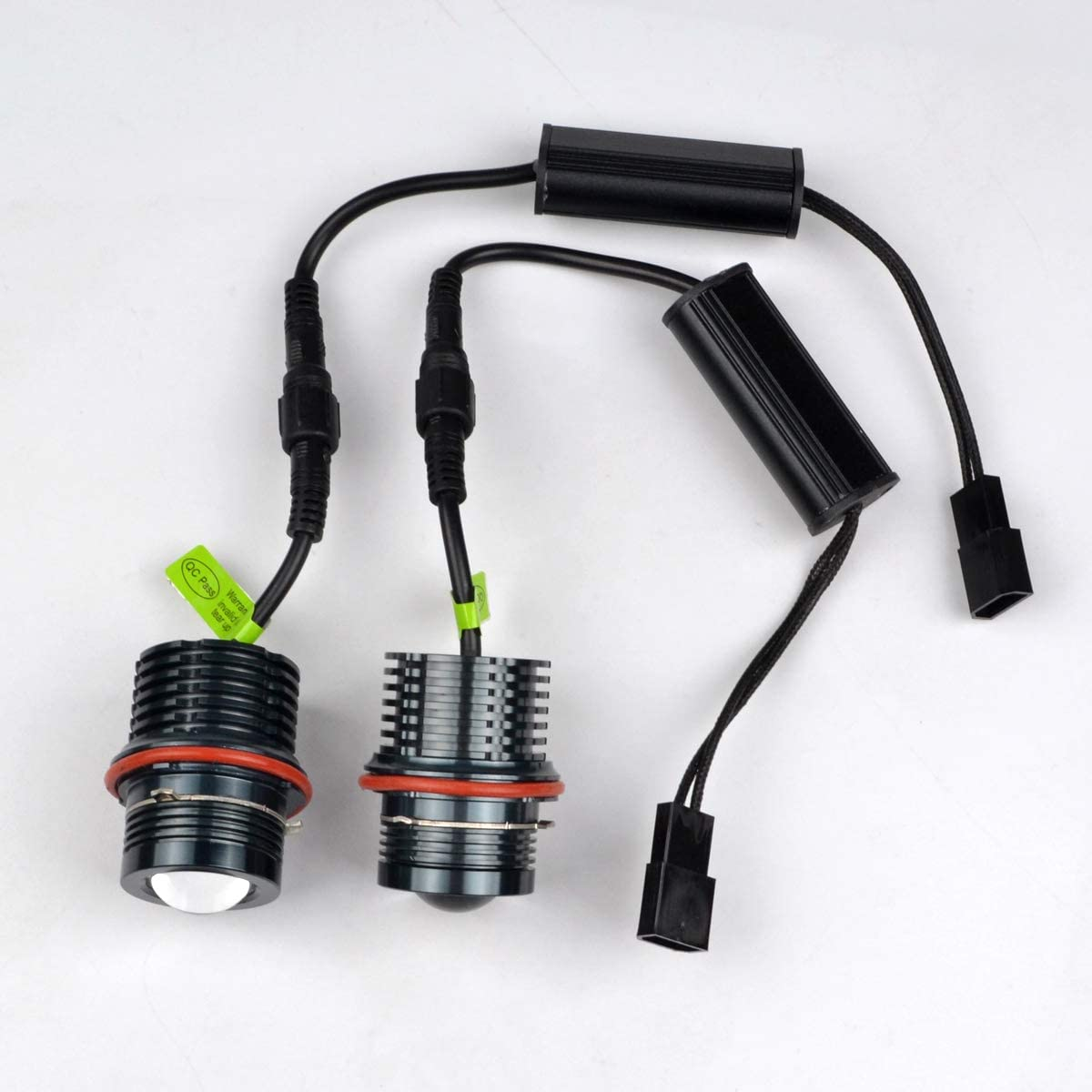 RunQiao 120W CREE LED Angel Eyes Halo Light Bulb 7000K Xenon White Marker Headlight For E39 E60 E87 E53 E63 E65