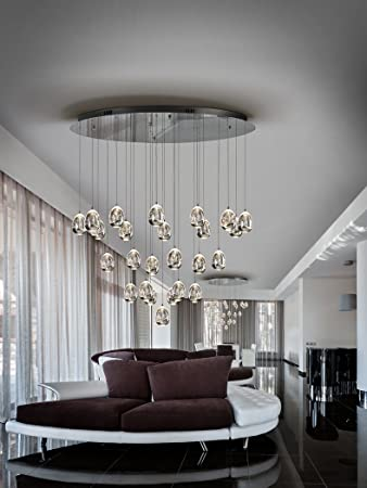 Schuller Lampen Moderne Led Rocio Chrom 25l Amazon De Kuche Haushalt
