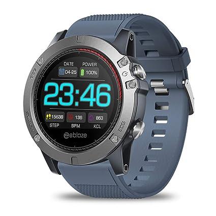 ZLOPV Pulsera Smart Watch Hombres Monitor de Ritmo cardíaco ...