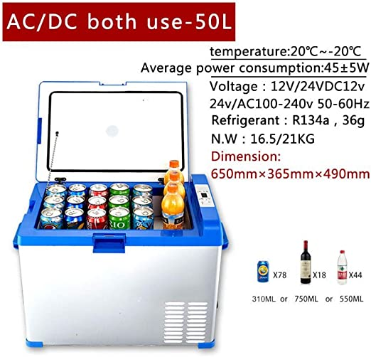 SMEARTHYB Compresor del Congelador De 50L 12V Refrigerador ...