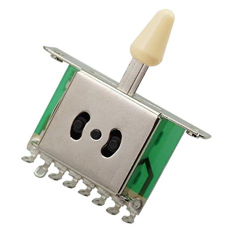 sharprepublic Interruptor Selector De Pastilla De Palanca De 3 Vías Para Guitarra Eléctrica Strat Tele -