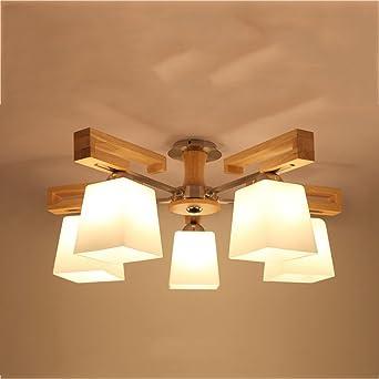 GUO - Lámparas de madera creativas nórdicas Sala de estar de ...