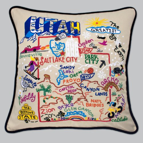 Utah State Pillow by Catstudio