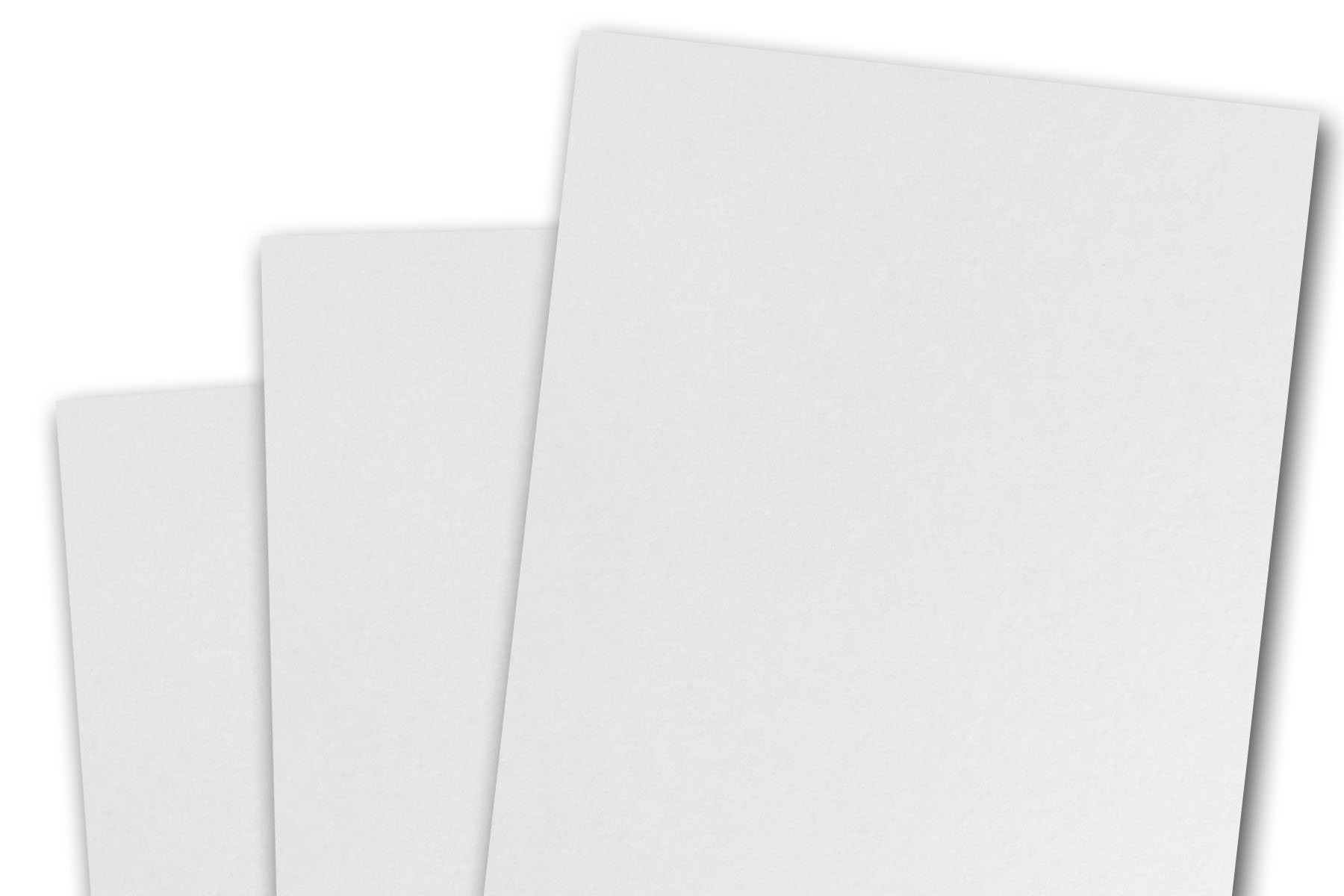 Blank 80# A7 Basic 5x7 Card Stock (250 Pack, White) by CutCardStock