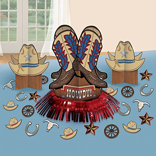 Amscan 280095 Western Table Decorating Kit, One Size, Multi Color