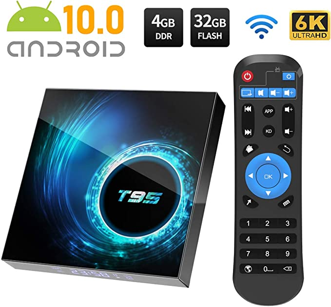 Android TV Box, Android 10.0 TV Box 4GB RAM/32GB ROM Allwinnner H616 Quad-Core Support 2.4Ghz WiFi 6K HDMI Smart TV Box: Amazon.es: Electrónica
