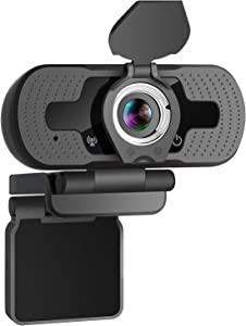 HD 1080P Webcam with Built-in Microphone YEEHAO USB PC Laptop Portable Web Camera with Privacy Cover for Livestream Video Call Gaming Online Lessons, Home & Office(Black)