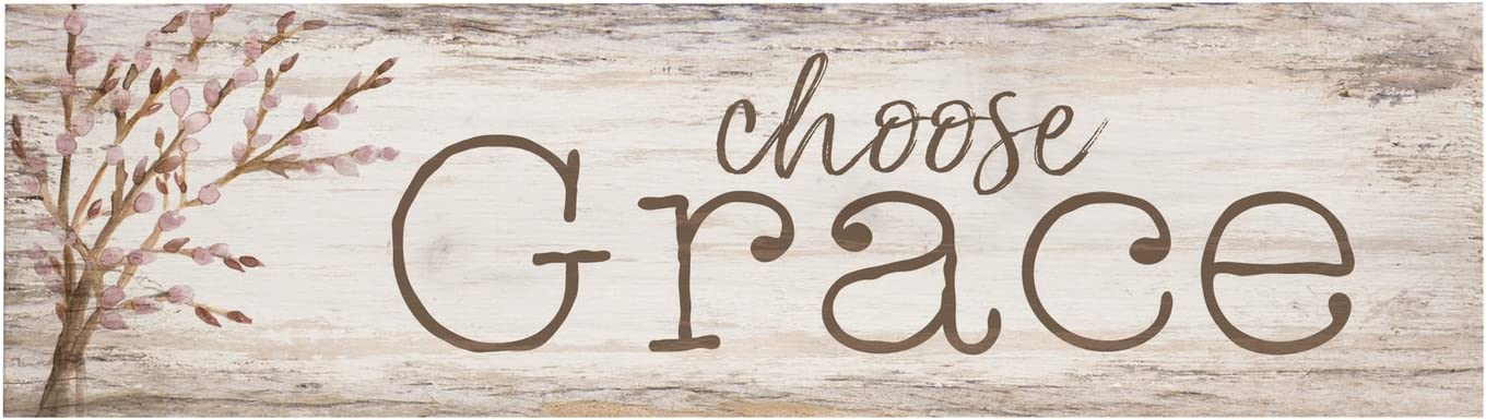 P. Graham Dunn Choose Grace Whitewash 6 x 1.5 Mini Pine Wood Tabletop Sign Plaque