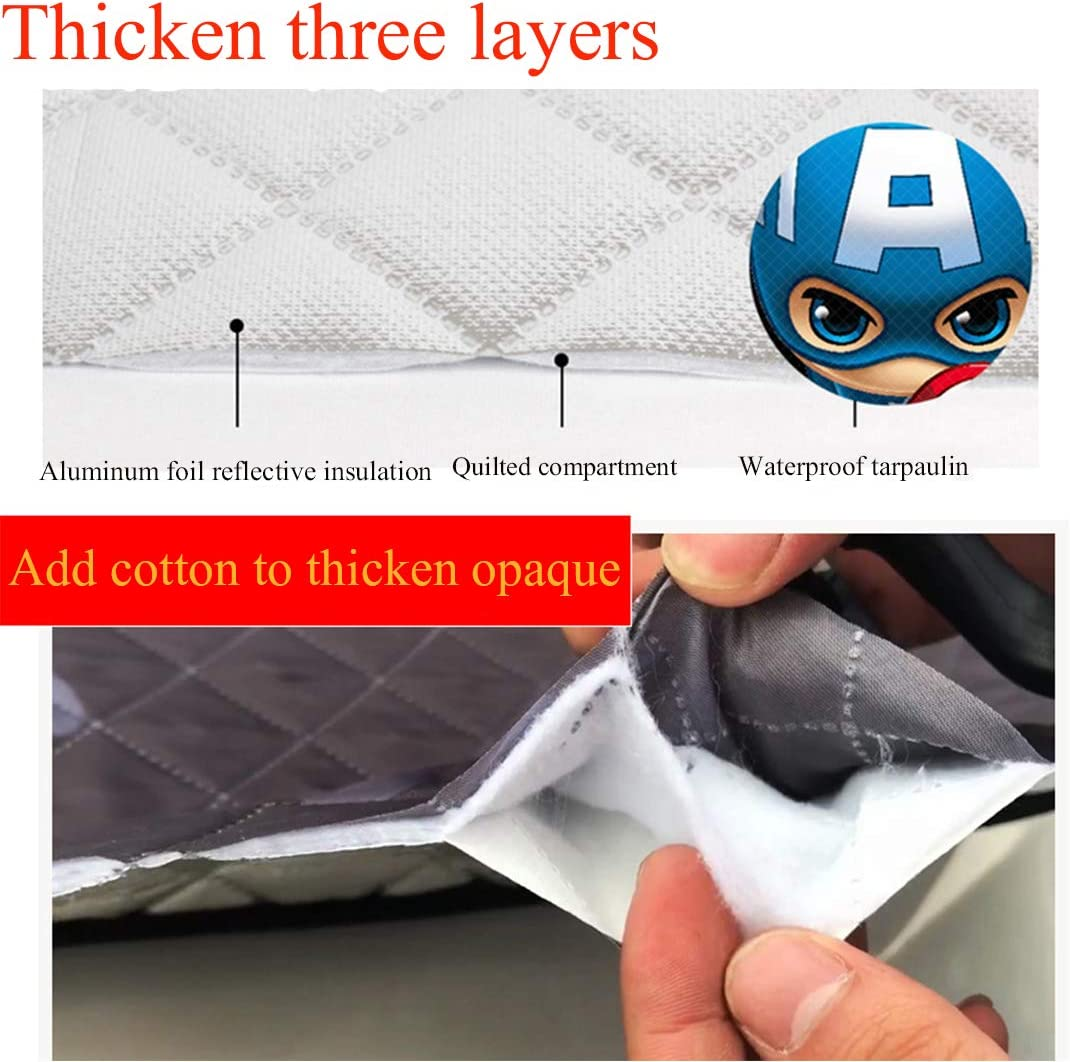 Fits Windshields of Standard Auto Keep Your Vehicle Damage Free Car Windshield Ice Cover Car Windscreen Cover Car Sun Shade Visor Protector Car Snow Cover Front Window Frost Cover
