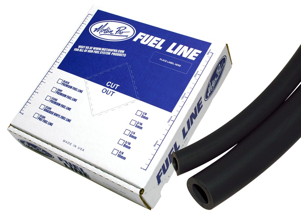 Motion Pro 12-0041 Tygon Black 1/4'' x 25' Premium Fuel Line