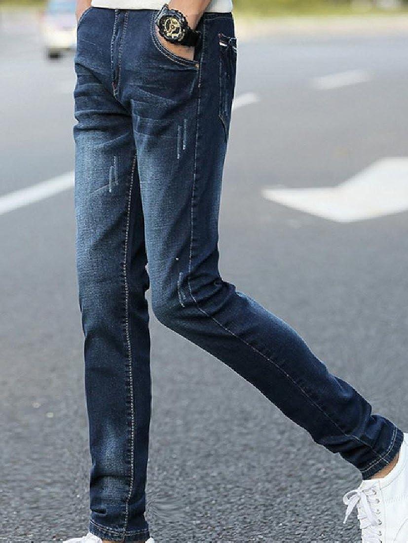 LoveSky-Men Rugged Wear Cowboy Classic Fit Frayed Smart Harem Pant