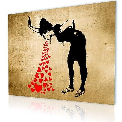 Amazon.com: Alonline Art - Girl Lovesick Banksy PRINT On CANVAS (100 ...