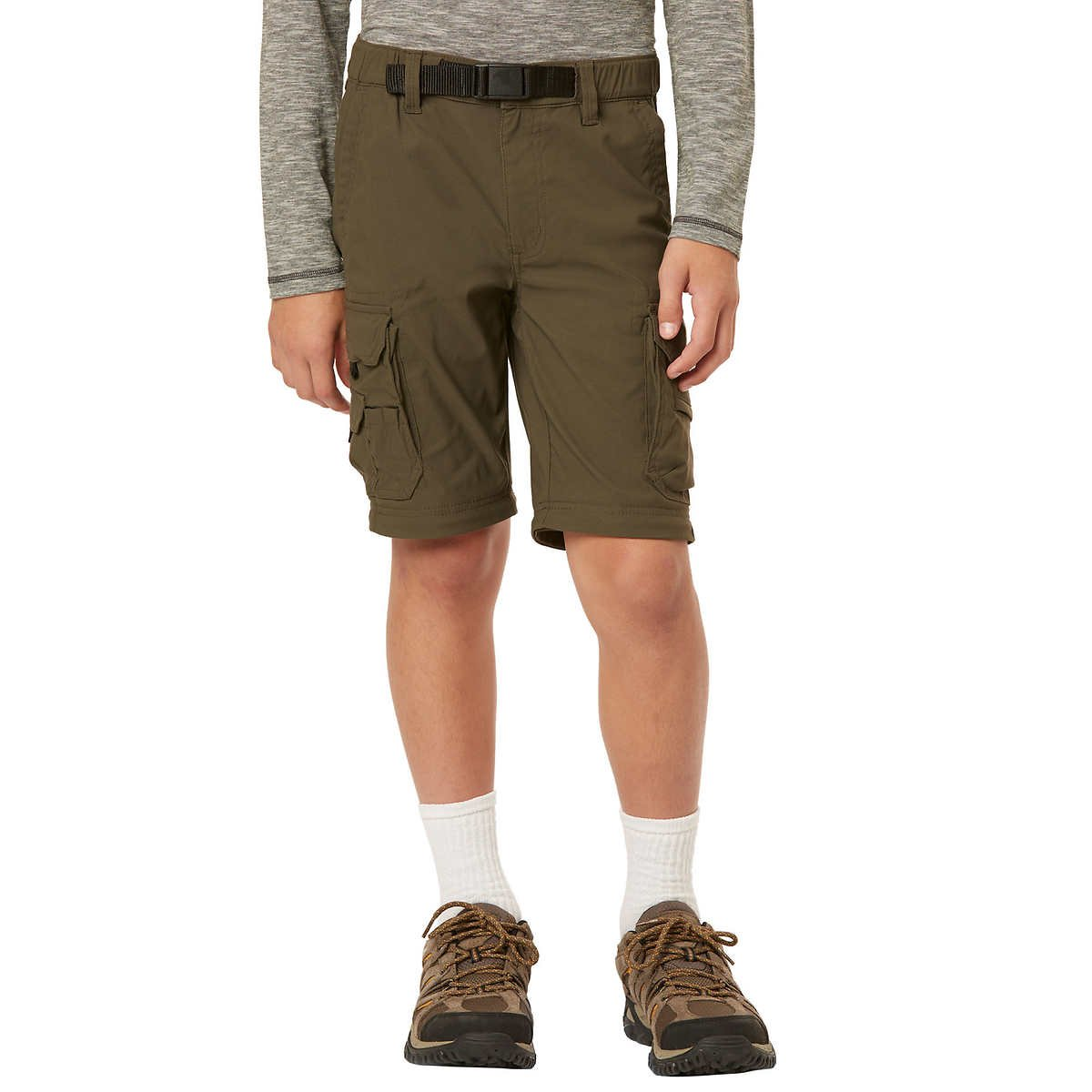 UNIONBAY Boys Youth Convertible Lightweight Comfort Stretch Cargo Pants//Shorts