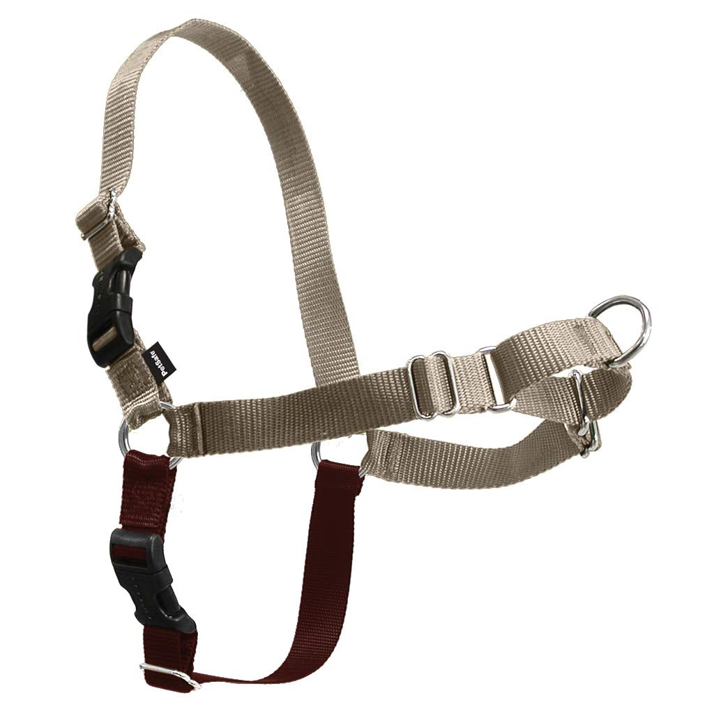 PetSafe Easy Walk Dog Harness, No Pull Dog Harness, Fawn/Brown, Medium/Large