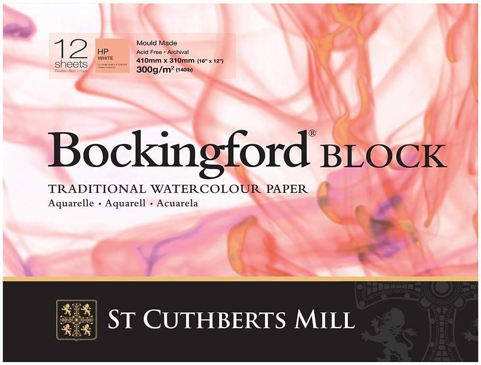 Bockingford Watercolour Block 140lb//300gms 9x12//228x305mm Cold Press