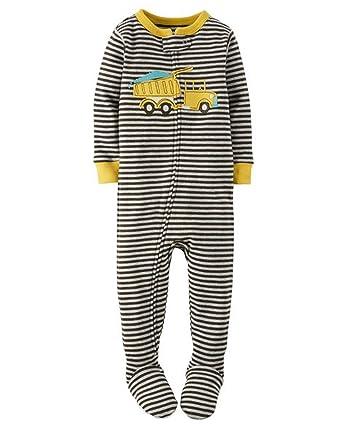 e29b6108dd50 Amazon.com  Carter s Boy s Size 4T Striped DUMP TRUCK Cotton Footed ...