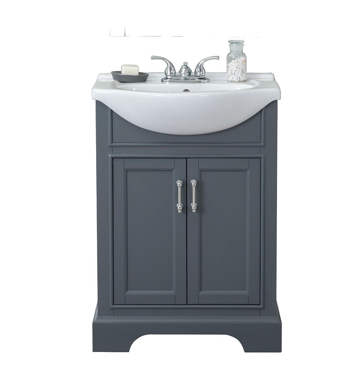 Super Legion Furniture Wlf6046 Bathroom Vanity 24 Dark Grey Interior Design Ideas Gresisoteloinfo