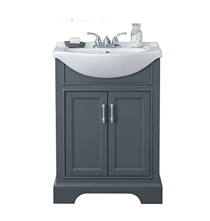 Legion Furniture Wlf6046 Bathroom Vanity 24 Dark Grey Amazon Com