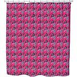 Uneekee Straight Paisley Shower Curtain: Large Waterproof Luxurious Bathroom Design Woven Fabric