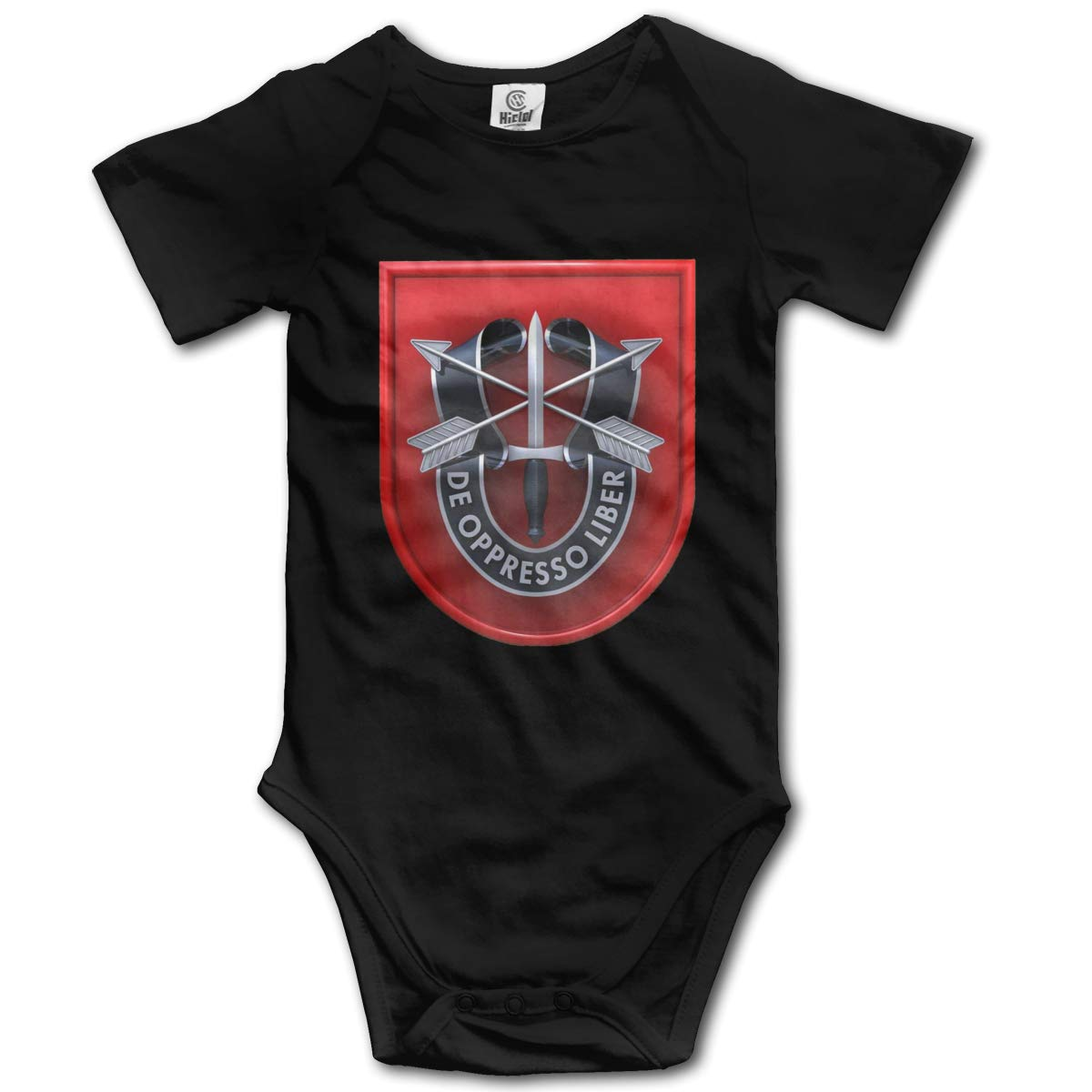 Coollifea 7th Special Forces Group Baby Romper 0-18 Months Newborn Baby Girls Boys Layette Rompers Black