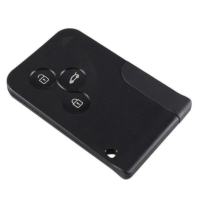 Remote Key Case Fob cubre el reemplazo de tarjeta llave de 3 botones para Renault Clio Megane Scenic Gran Keyc by Keyfobworld
