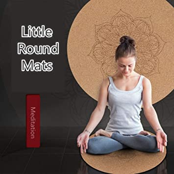 GHUUO Estera De Yoga Little Round Cork Yoga Mats 3Mm Cojín ...