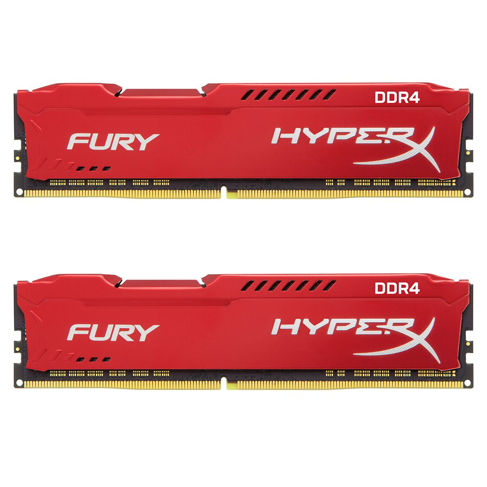 Kingston Technology HyperX FURY Red 16GB 2400MHz DDR4 CL15 DIMM Kit of 2 1Rx8 (HX424C15FR2K2/16)