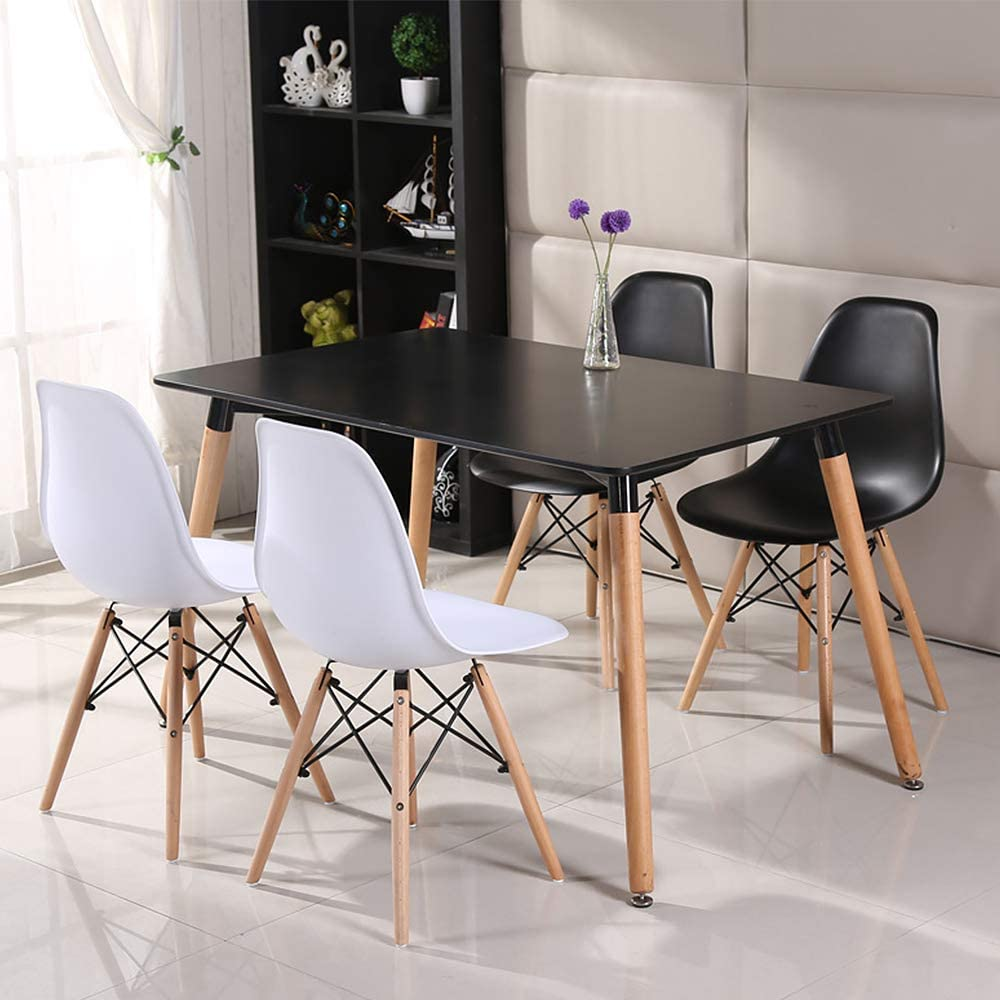 YIFAA Dining Table Set Kitchen Table /& Chairs Set 4 for Office Lounge Dining Kitchen