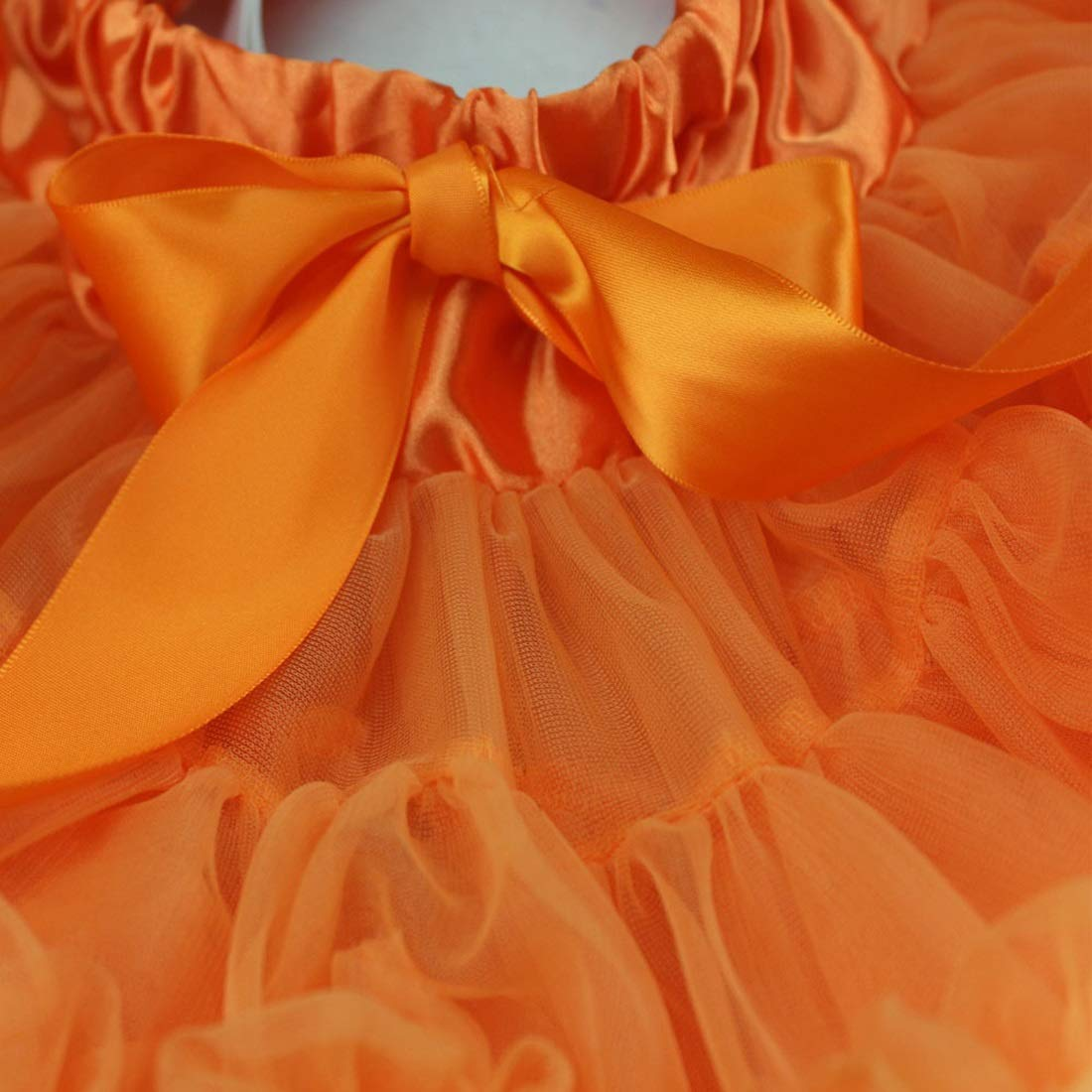 CEFULTY Pleated Fluffy Tutu Skirt Soft Pettiskirt for Baby Girls Toddlers Children Color : Orange, Size : 110CM