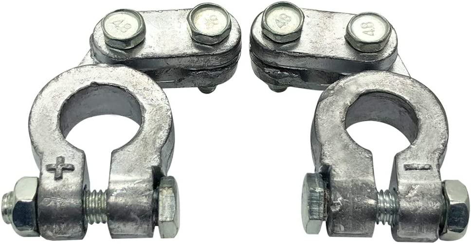 Top Post Battery Terminals Connector Set for Marine Car Boat RV Vehicles 1 Pair Ampper Lead Alloy Military Spec Battery Terminal Clamps